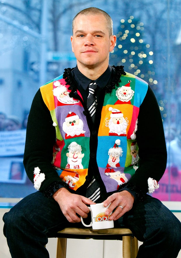 Matt Damon Horrible Holiday Sweaters Us Weekly