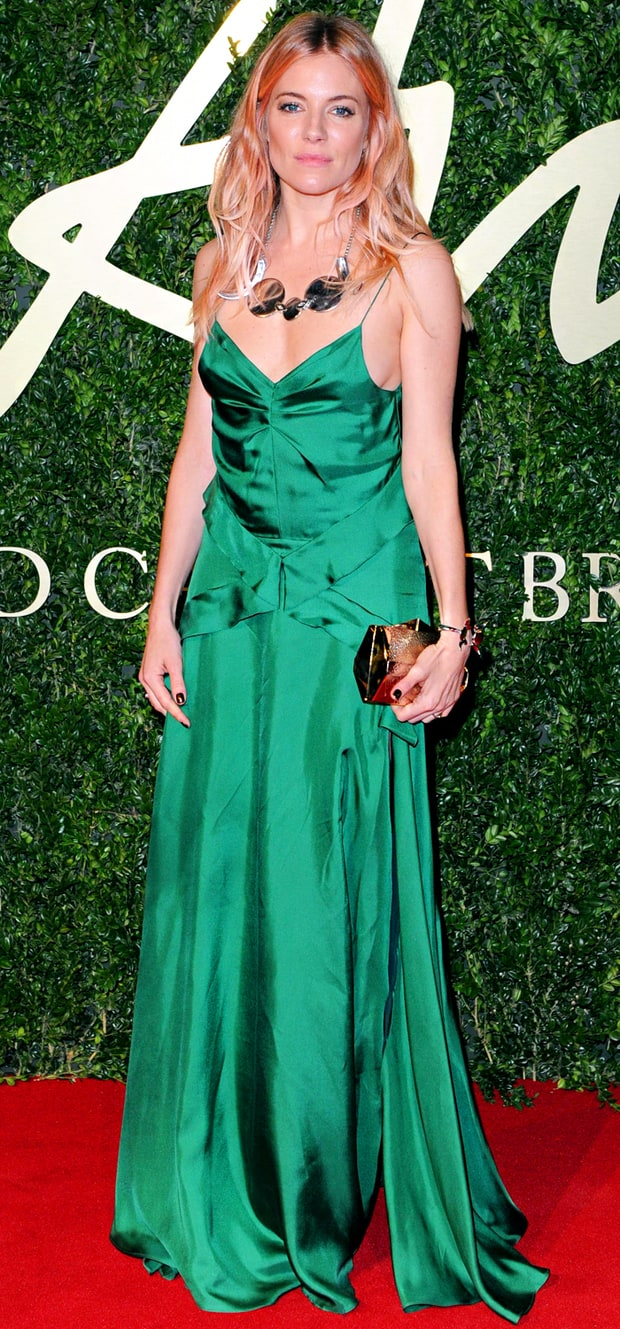 Sienna Miller at the British Fashion Awards 2013