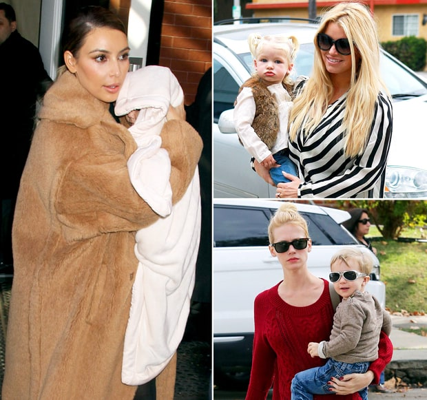 Celeb Moms And Their Bundled Up Kids