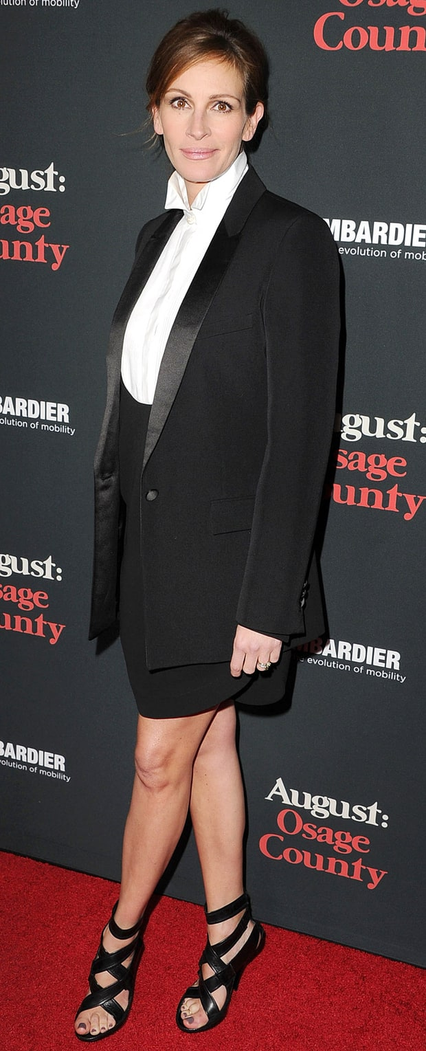 Julia Roberts at the August: Osage County LA Premiere