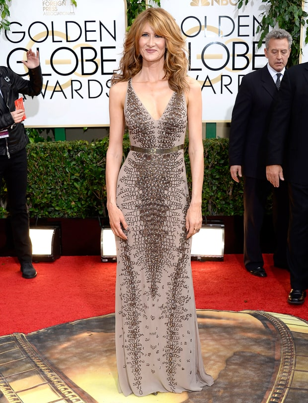 Laura Dern Golden Globes 2014 Red Carpet Dresses Photos
