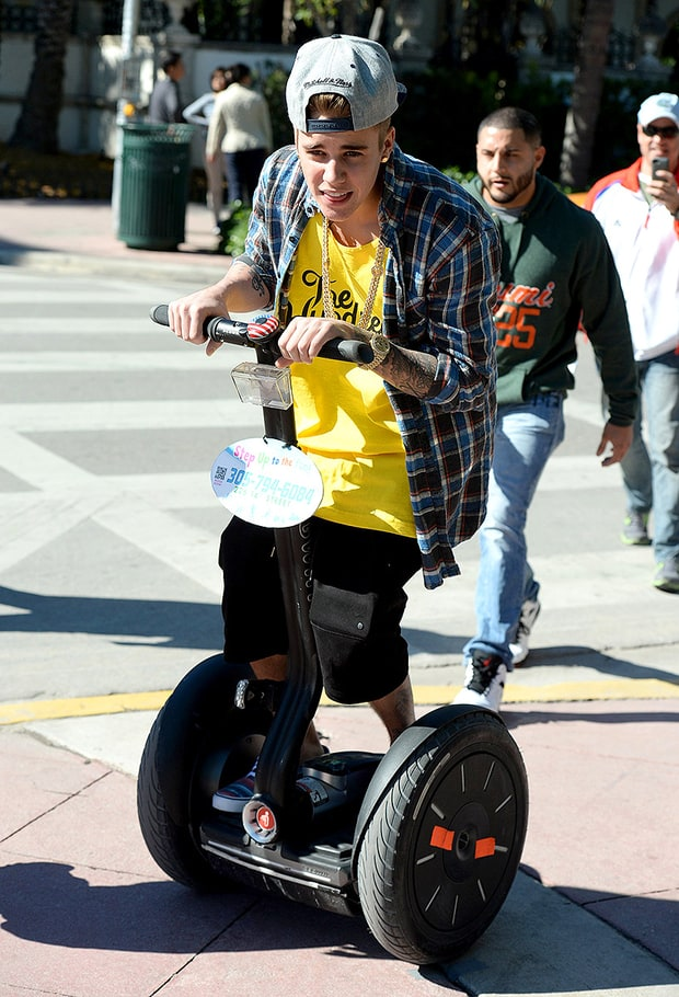 The Biebs on Wheels