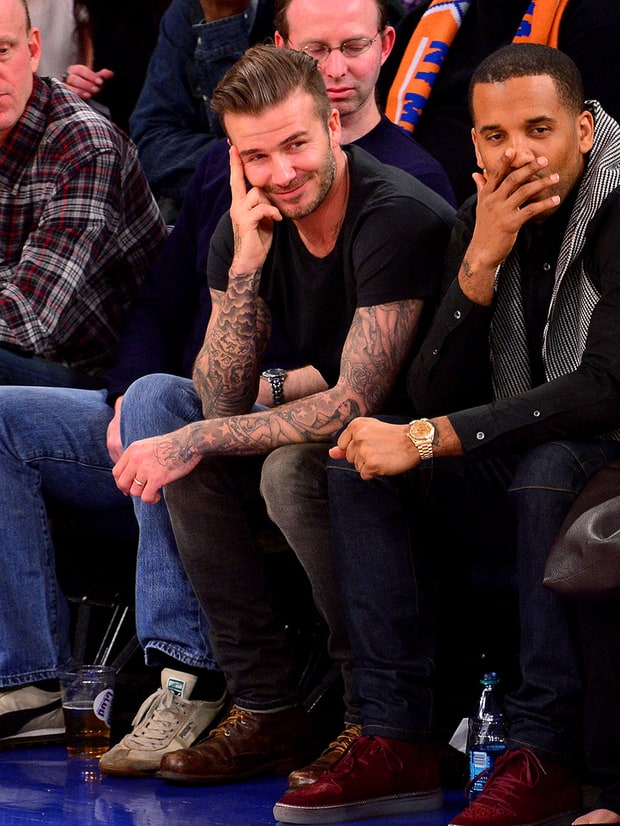 Beckham's B-Ball Grin