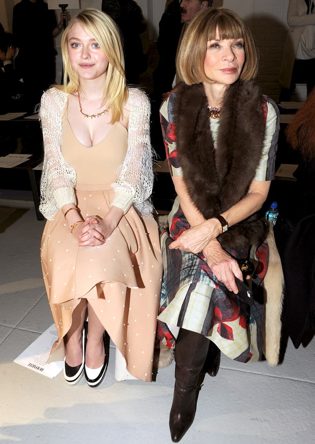 Dakota Fanning and Anna Wintour