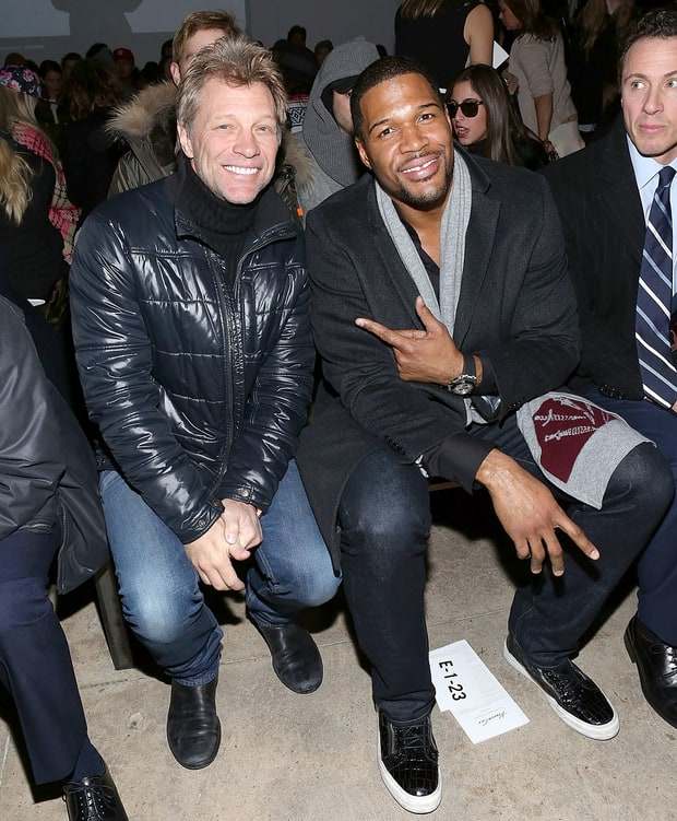 Jon Bon Jovi and Michael Strahan