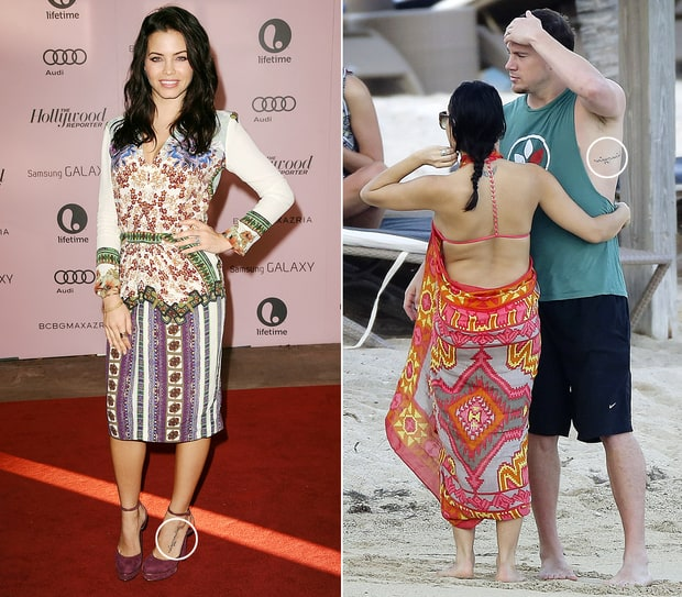 Jenna dewan tatum and channing tatum celebrities who got for Channing tatum tattoo side by side