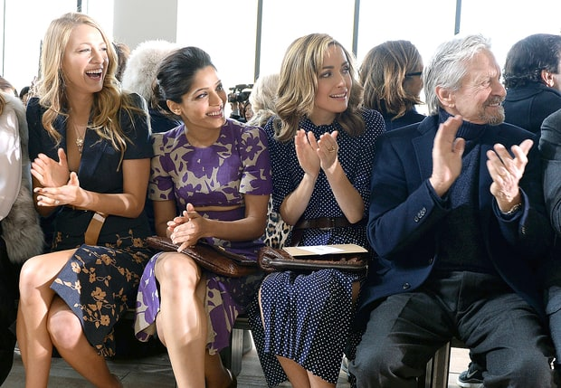 Blake Lively, Freida Pinto, Rose Byrne, and Michael Douglas