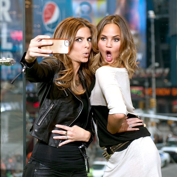 Maria Menounos and Chrissy Teigen