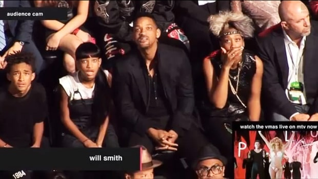 The Smith Family at the 2013 VMAs