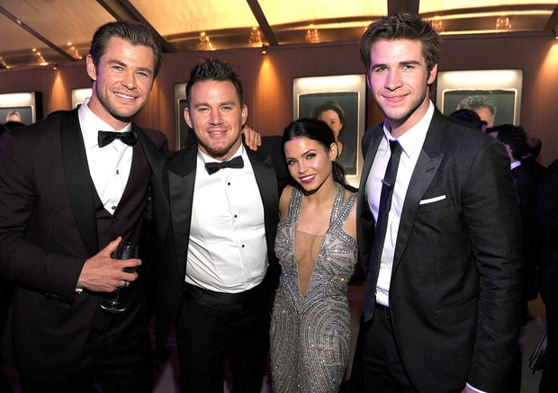 Chris Hemsworth, Channing Tatum, Jenna Dewan-Tatum and Liam Hemsworth