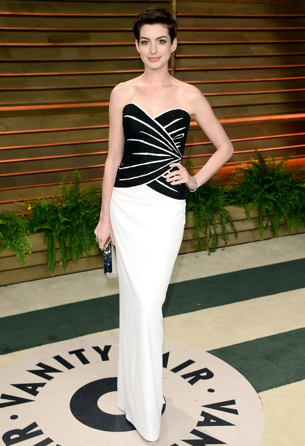Anne Hathaway: 2013 Vanity Fair Oscar Party