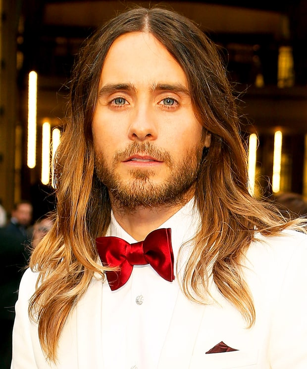 Jared Leto's Air-Dried Waves