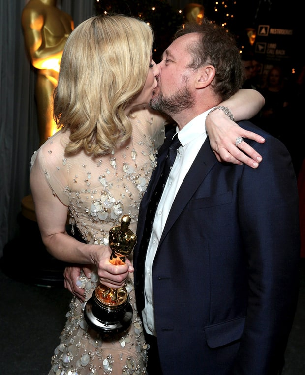 Cate Blanchett And Andrew Upton Celebrity Oscars Pda
