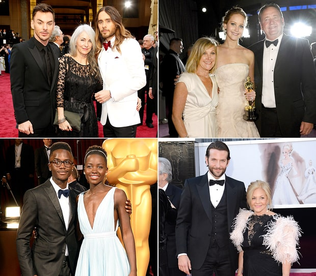 Oscars: Stars Who Brought Family Members