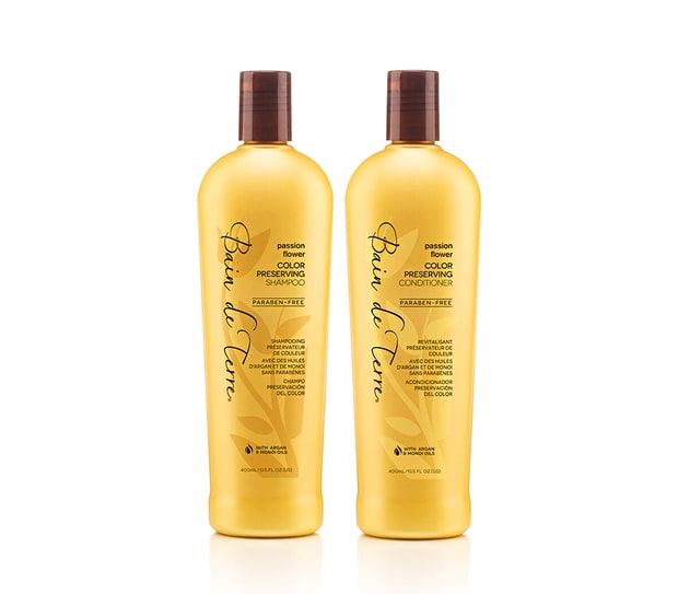Bain de Terre passion flower color preserving shampoo & conditioner
