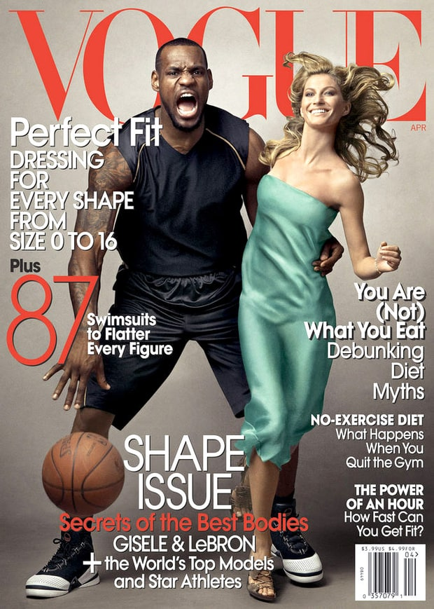 LeBron James and Gisele Bundchen, Vogue