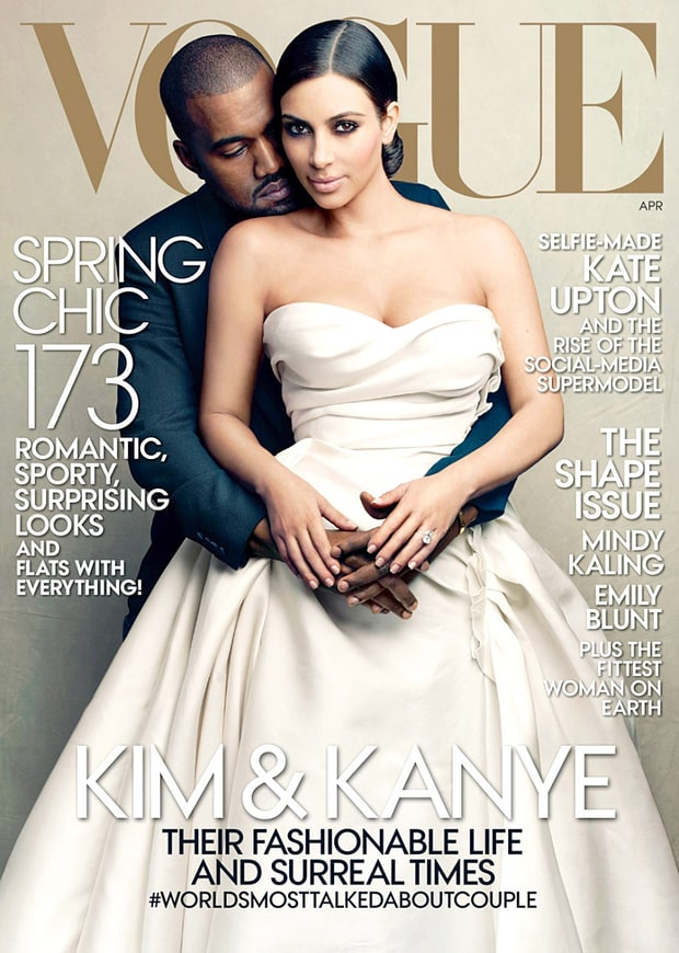 Kim Kardashian and Kanye West, Vogue