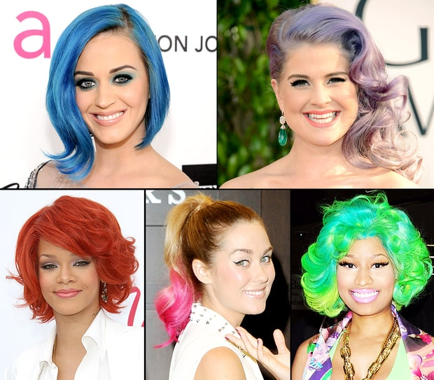 Stars With Rainbow Colored Hair
