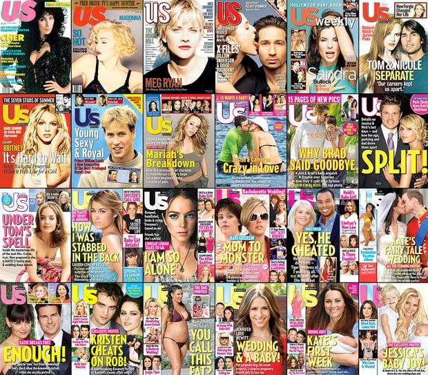 Us Weekly Covers Through the Years