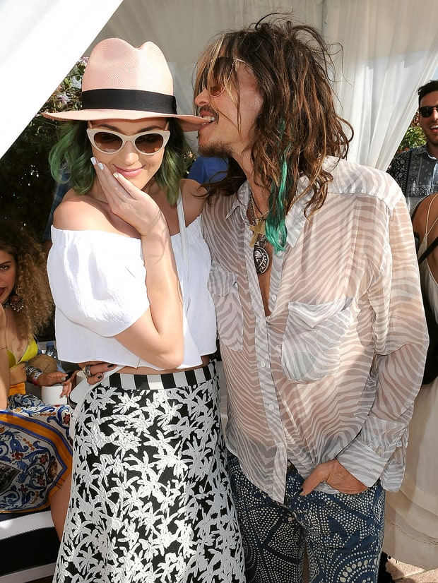 Katy Perry and Steven Tyler