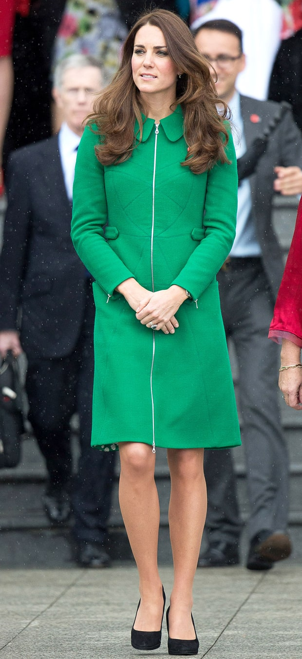 Green Coat Kate Middleton Style From The Royal Australia And New Zealand Tour 2014 All The