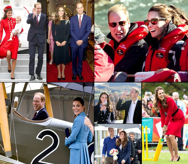 Kate Middleton, Prince William, Prince George's 2014 Royal Tour