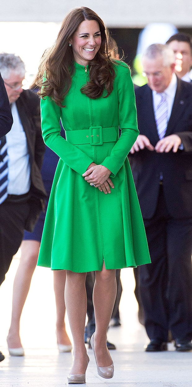 Green Coat Dress Kate Middleton Style From The Royal Australia And New Zealand Tour 2014 All