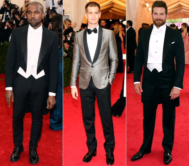 Men in Tuxes at Met Gala 2014