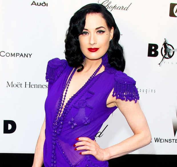 Dita Von Teese in Purple