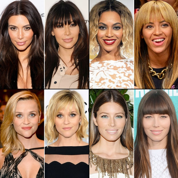 Celebs with Bangs and Without
