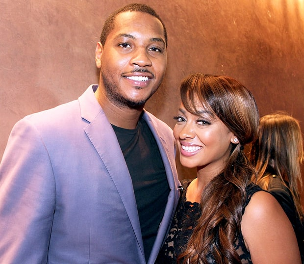 La La Vazquez and Carmelo Anthony