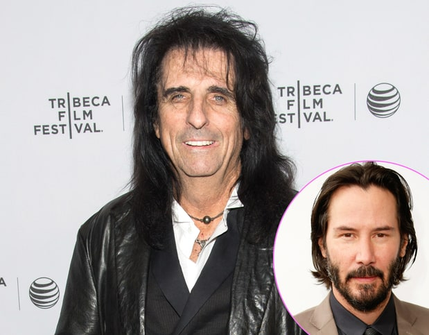 Alice Cooper and Keanu Reeves