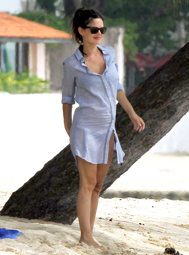 Shirt dress | Rachel Bilson's Pregnancy Style