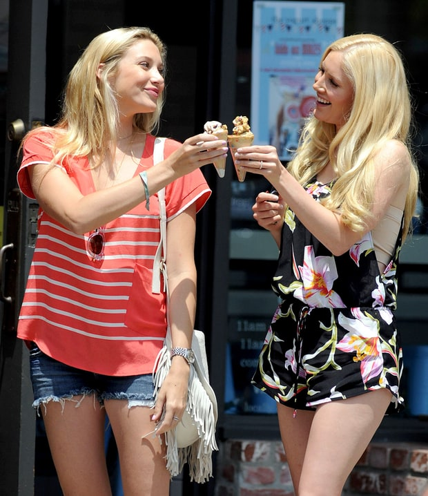 Stephanie Pratt and Heidi Montag