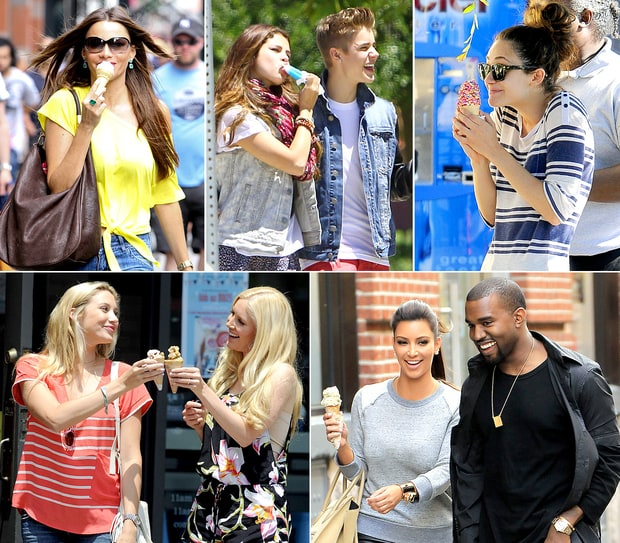 Celebrities Scream for Ice Cream!