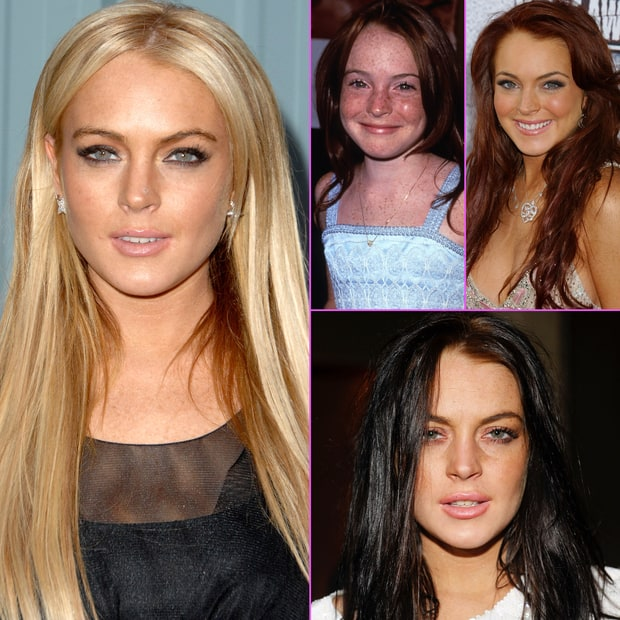 Lindsay Lohan's Face Through the Years