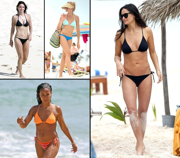 Hot Celebs in Swimsuits Over 40