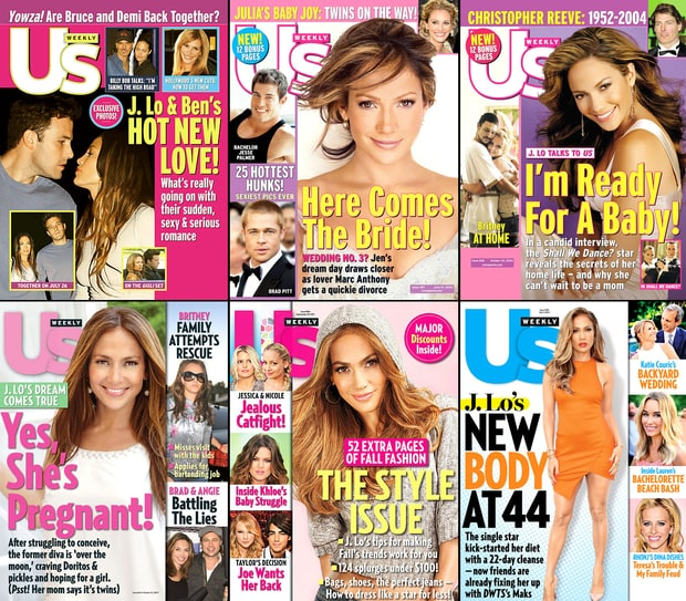 Jennifer Lopez's Us Weekly Covers