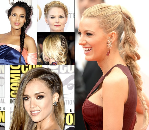 Celebs' Braided Hairstyles on the Red Carpet
