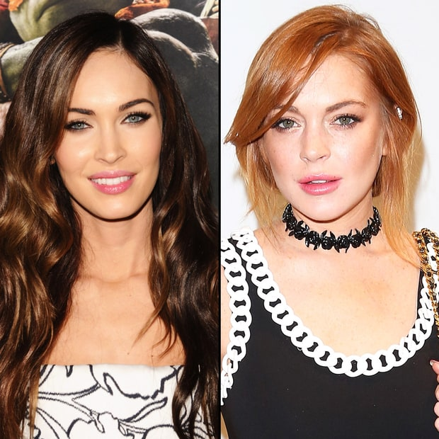 Megan Fox and Lindsay Lohan