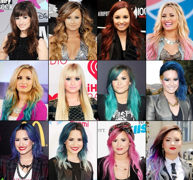 Demi Lovato's Ever-Changing Hair Color