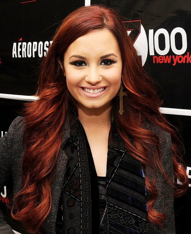 red demi lovatos everchanging hair color us weekly