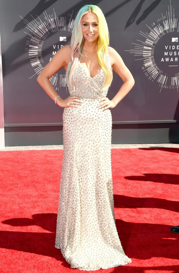 Kesha: 2014 VMAs | MTV VMAs 2014 Red Carpet: What the ... Beauty And The Beast Belle Pink Dress
