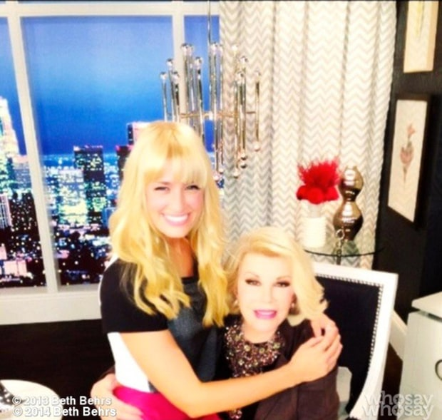 Beth Behrs joan rivers