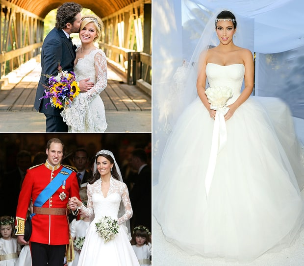 Ugliest Celeb Wedding Dress: 15 Best Traditional Celebrity Wedding Dresses Of All Time