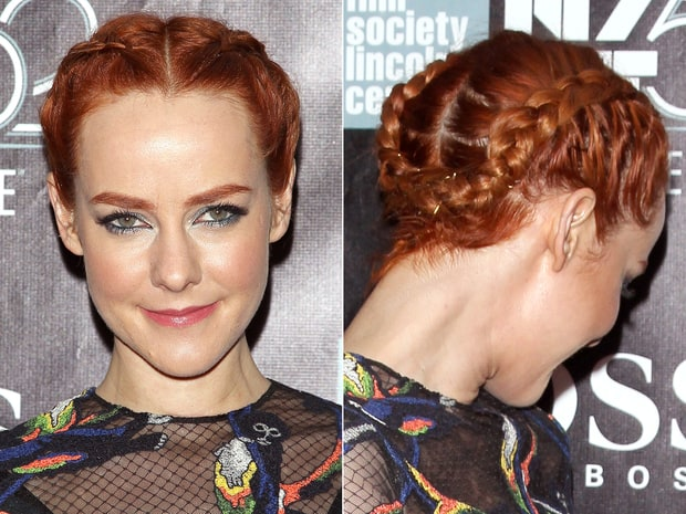 Peachy Celebs39 Braided Hairstyles On The Red Carpet Celebs39 Hot Braided Short Hairstyles Gunalazisus