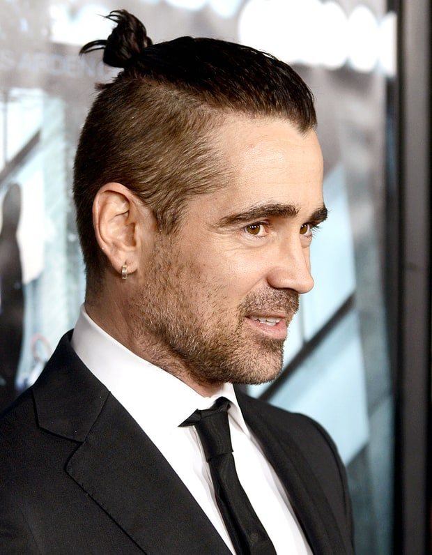Colin Farrell Best Celebrity Man Buns Weekly