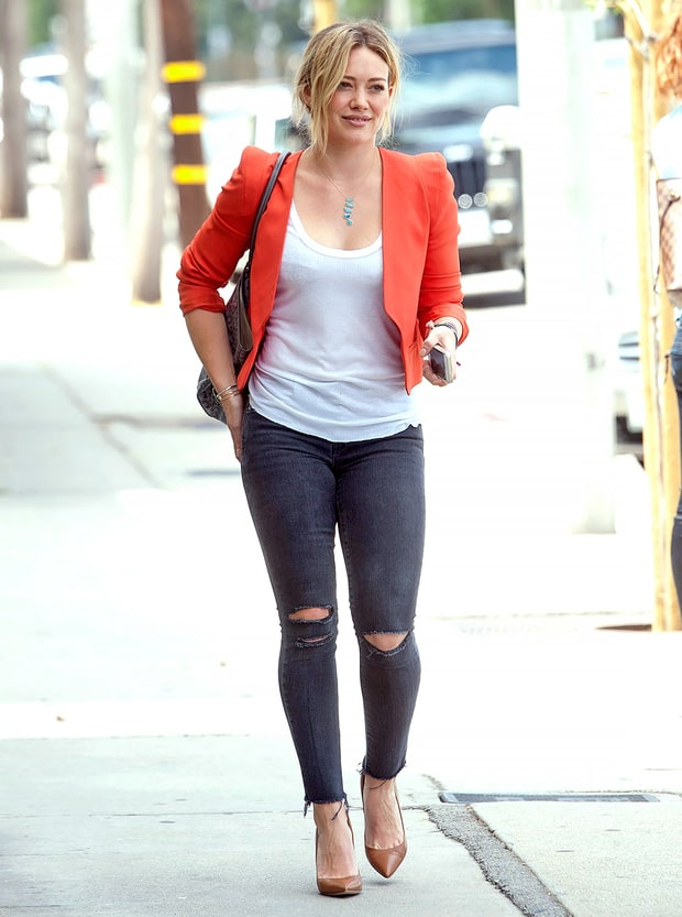 Hilary Duff Best Celebrity Street Style Looks Of 2014 Us Weekly