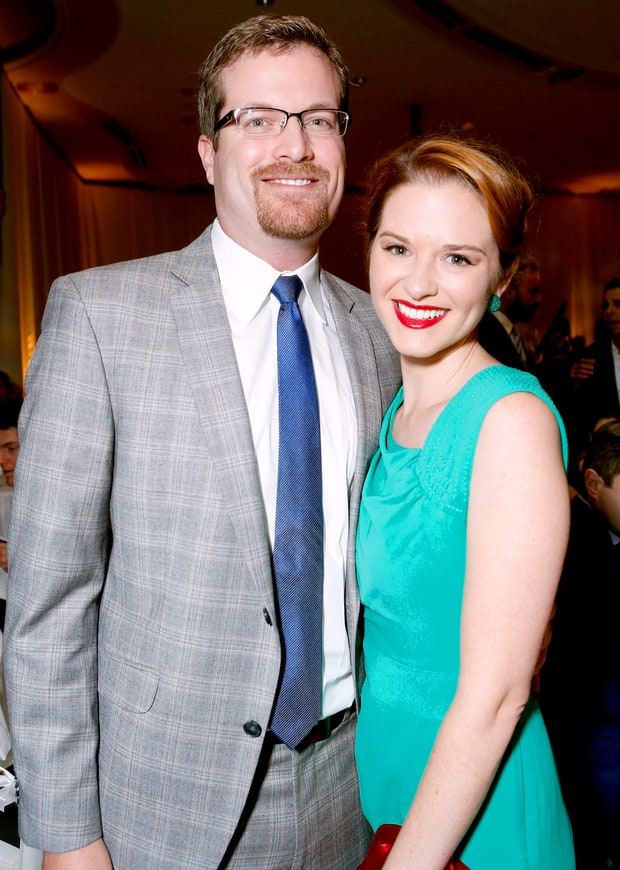 Sarah Drew and Peter Lanfer