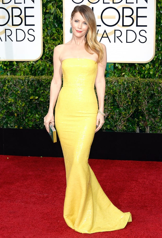 Leslie Mann Golden Globes 2015 Red Carpet Fashion What